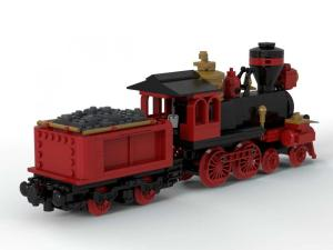 Classical Western Train locomotive with tender