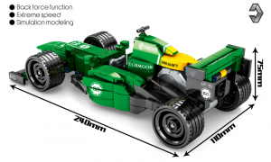 Technik Formel Auto in grün