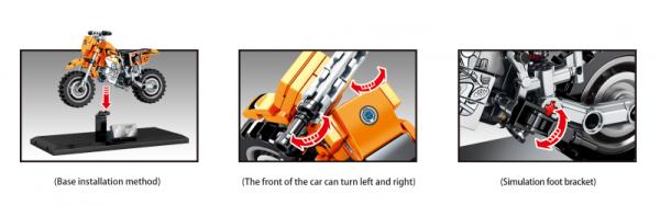 Motorrad in orange