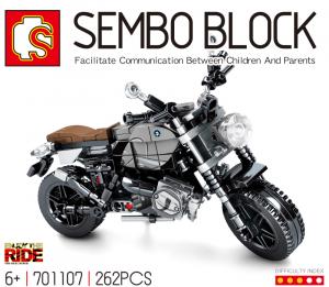 Motorrad - schwarzer Chopper