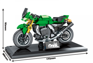 Motorcycle in green