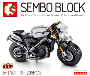 Motorrad in schwarz/grau