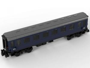 Train passenger trolley dark blue 1 st class