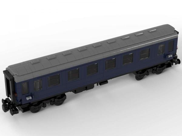 Train passenger trolley dark blue 1st class