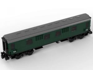 Train Parcel trolley dark green