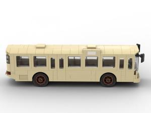 Klassischer alter Bus in tan