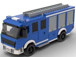 Emergency equipment vehicle blue white
