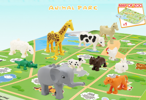 Funny Zoo Animals with Map