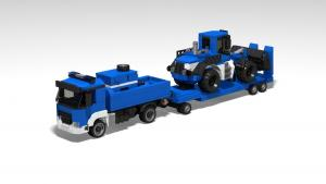 Technisches Hilfswerk truck with wheel loader BRmG