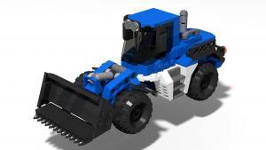 Technisches Hilfswerk truck with wheel loader BRmG