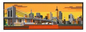 Manhattan Sonnenuntergang Skyline Bild