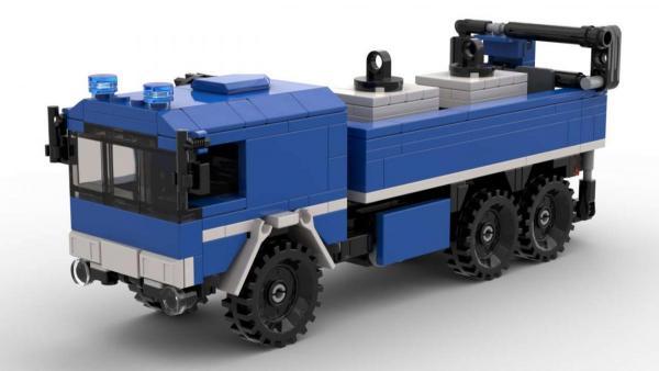 Technisches Hilfswerk LKW mit Ladekran
