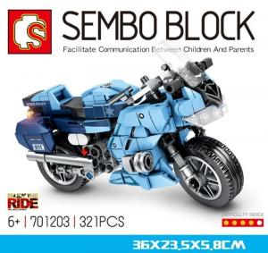 Motorcycle blue