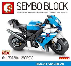 Motorcycle blue and black