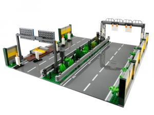 Autobahnabschnitt mit Baustelle