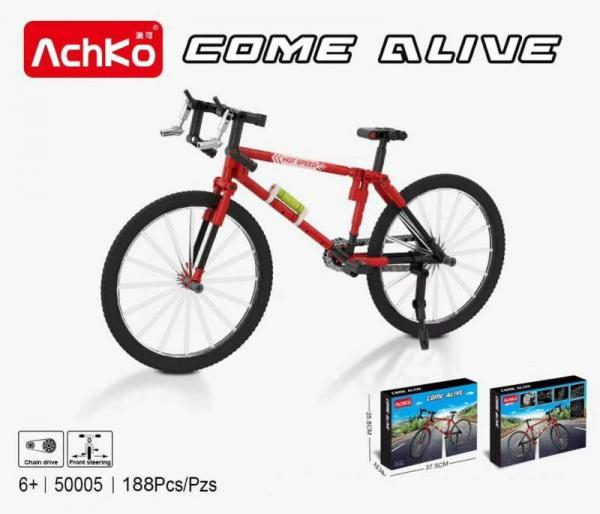 Bicycle in red and black