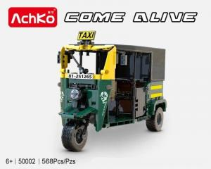 Autorickshaw in green and yellow