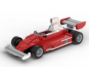 red Race Car 1975