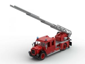 Klassischer Feuerwehr Leiterwagen