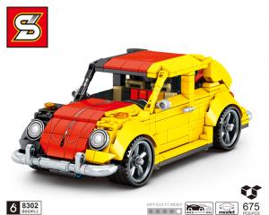 Auto in schwarz/rot/gelb