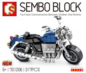 Motorcycle in blau