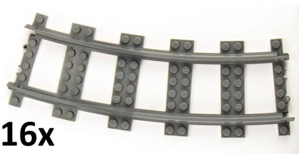 Track curved R56 16cm Track set, 16 pcs