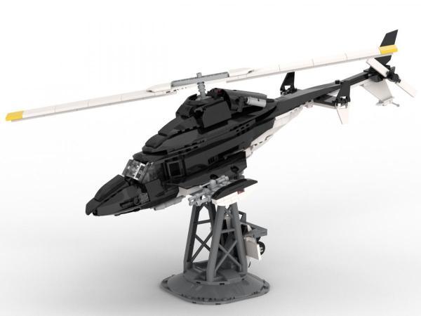 Schwarzer Hubschrauber