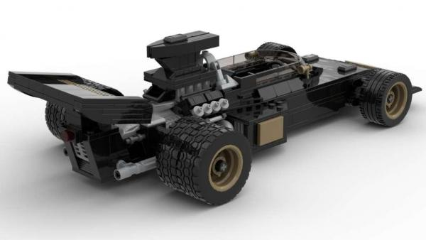 Black 1972 Formula Racer
