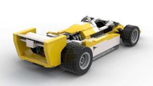 1979er Formel Wagen weiß/gelb