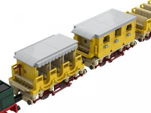 Dampflokomotive Adler mit 1.-3. Klasse-Wagen