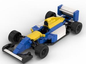 1992er Formel Wagen blau/weiß/gelb