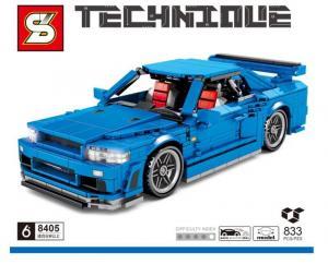 Racingcar in blue