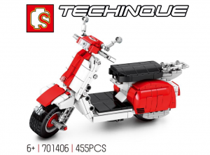 Motorcycle in white/red