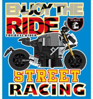 Motorcycle in black