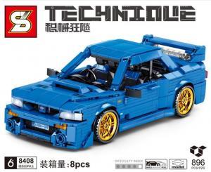 Rennwagen in blau