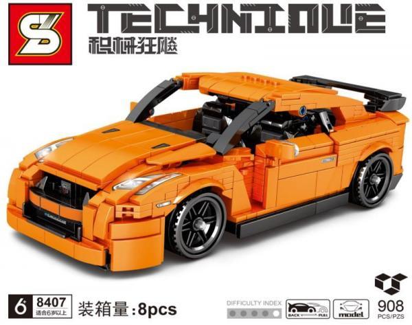 Racing car in orange
