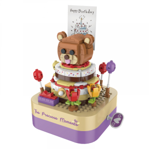 Music Box Birthday Cake Bear
