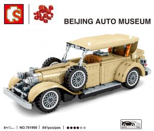 Vintage car in beige