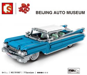 Vintage car in blue