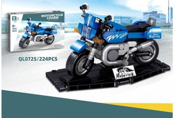 Motorrad Charm in blau