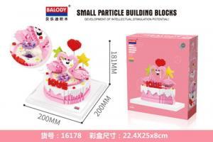 Flamingo Torte (diamond blocks)