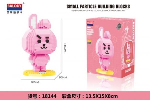 Rabbit in pink (diamond blocks)