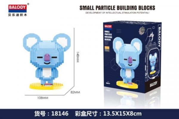 Blue Koala (diamond blocks)