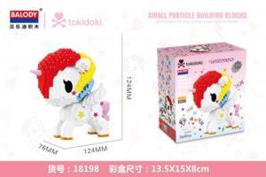 Unicorn in white and red(diamond blocks)
