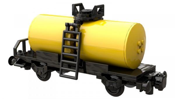 tank car black yellow