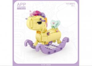 Unicorn Rocking Horse (mini blocks)