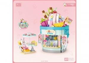 Ice cream shop (with small figure) (mini blocks)