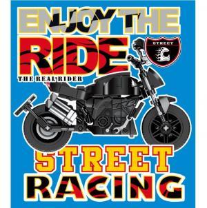 Motorrad in schwarz