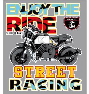 Motorrad in schwarz/weiß