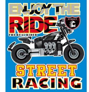 Motorrad in schwarz/silber